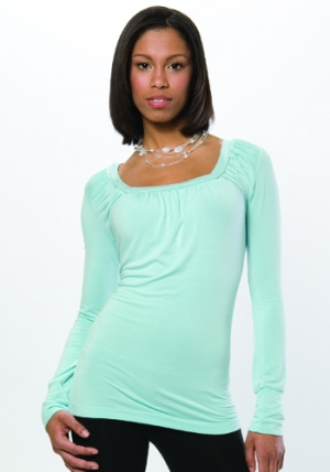 A-Line Square Neck - Canal Blue :  light blue eco soft eco-friendly