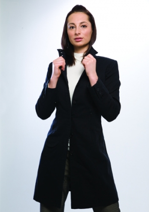 Drop Waist Jacket - Jet Black :  jacket bamboo sustainable green