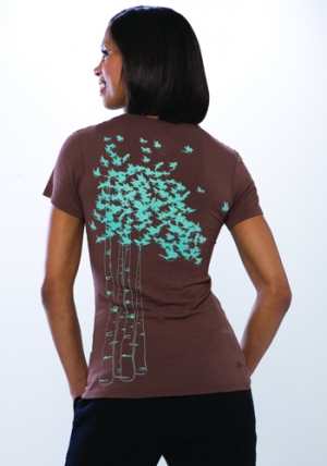 Flocked Together Tee- Cocoa :  eco-fashion eco eco-friendly womens