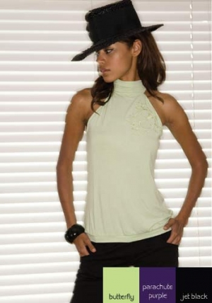 1408-Halter Tie Tank :  eco friendly sameunderneath sustainable bamboo