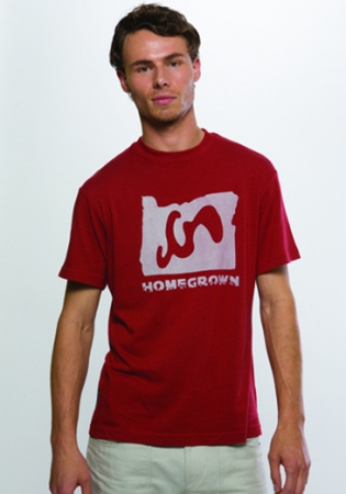 Homegrown Tee - Garnet :  bamboo sustainable sameunderneath eco friendly